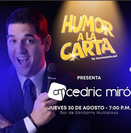 Photo of Esta noche Humor a la Carta by @tuconcierto presenta a 'Cedric Miró'