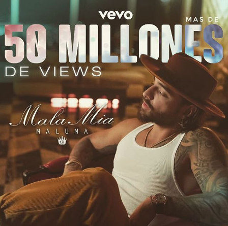 Photo of Maluma logra que «Mala Mía» supere las 54 millones de vistas