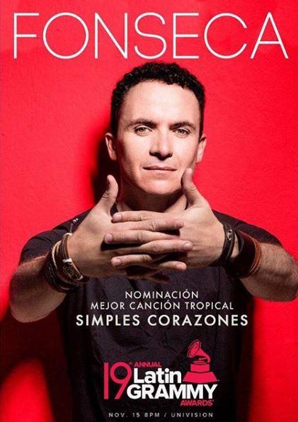 Photo of «Simples Corazones» de Fonseca esta nominada a los Latin GRAMMY