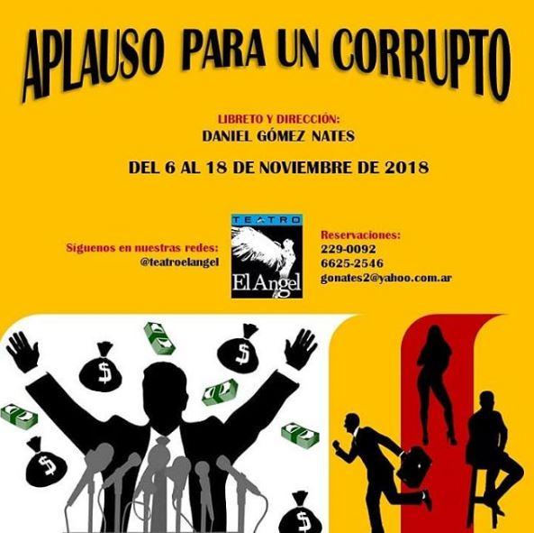 Photo of Obra 'Aplauso para un Corrupto'