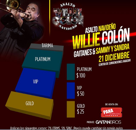 Photo of Willie Colón en concierto