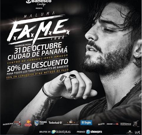 Photo of Descuento al 50% para el concierto de Maluma en Panamá