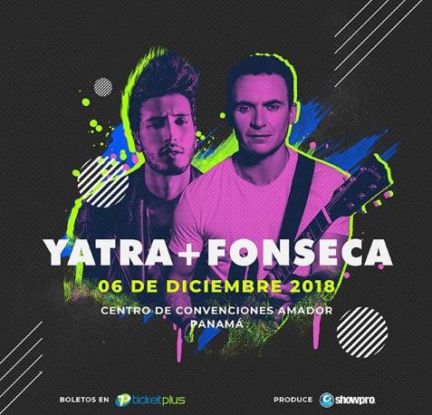 Photo of Sebastian Yatra y Fonseca en concierto en Panamá
