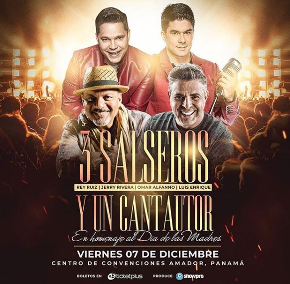 Photo of '3 Salseros y un Cantautor' en concierto en Panamá