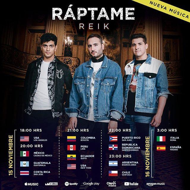 Photo of Reik presenta su nuevo sencillo 'Ráptame'