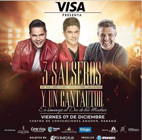 Photo of Cncierto de «3 Salseros y 1 cantautor» en Panamá