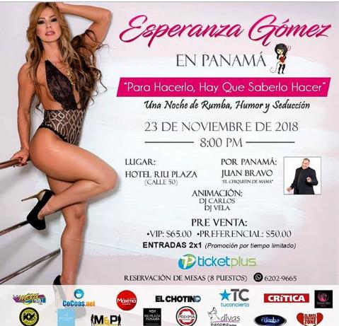 Photo of Esta noche Esperanza Gómez en Panamá