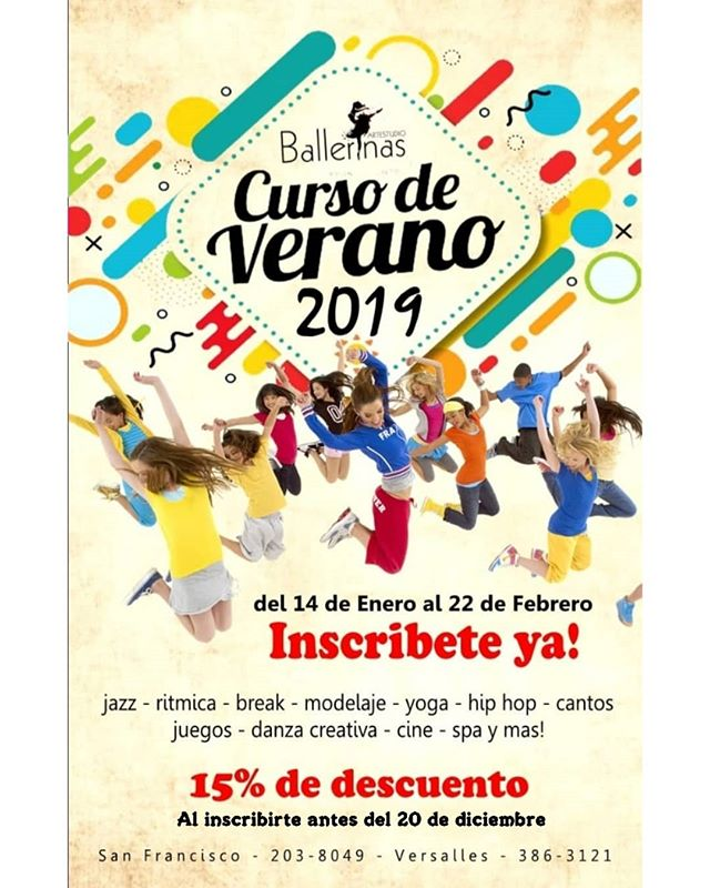 Photo of Ballerina trae Curso de Verano 2019