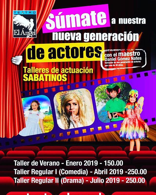 Photo of Sumate a los 'Talleres de actuación sabatinos'