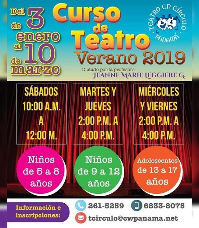 Photo of Teatro en Círculo presenta 'Curso de Teatro 2019'