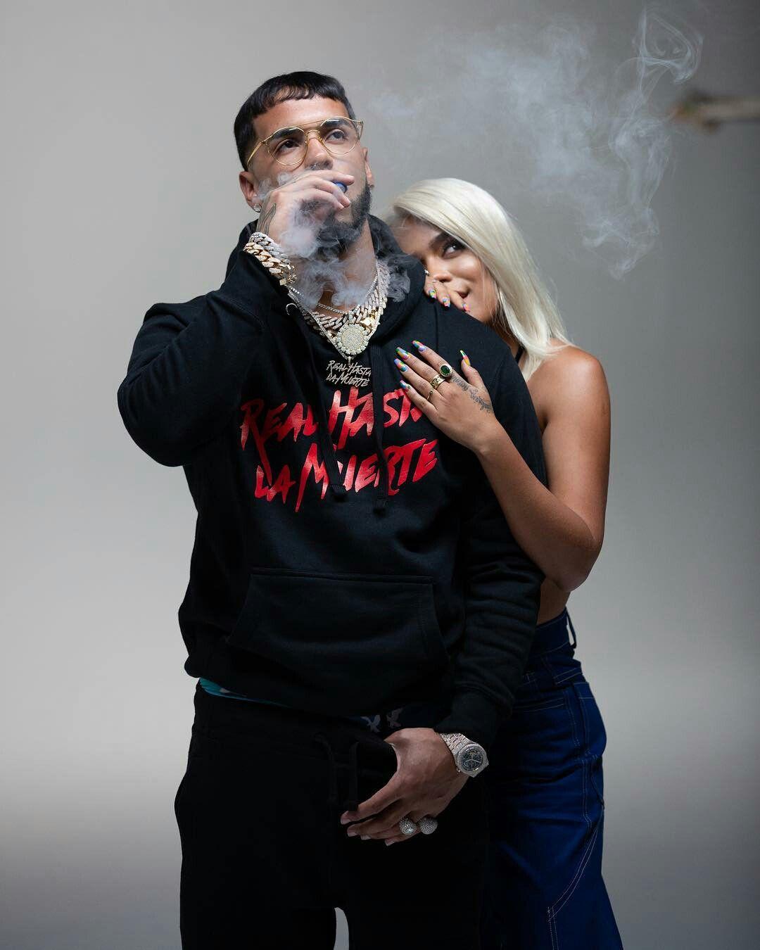 Photo of Anuel AA y Karol G preparando el lanzamiento de 'Secreto'