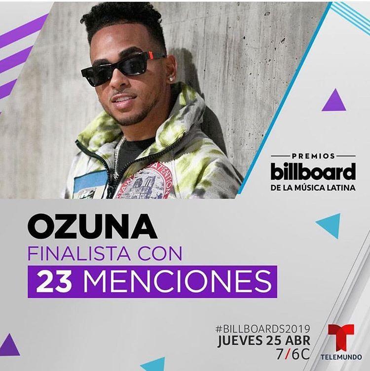 Photo of Ozuna es el más nominado de los Premios Billboard 2019