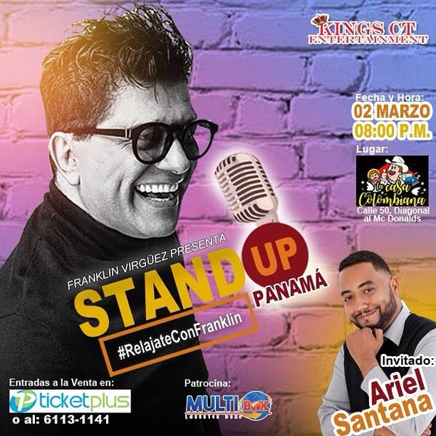 Photo of Franklin Virguez presenta Stand Up Comedy en Panamá
