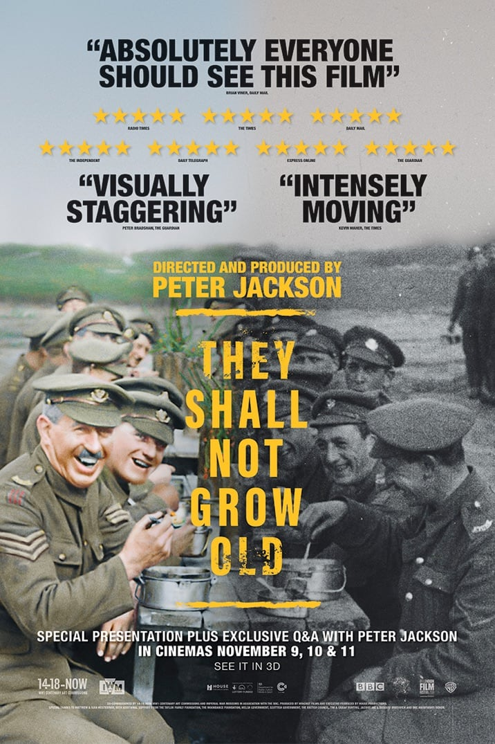 Photo of Cinemark presenta 'They Shall Not Grow Old'