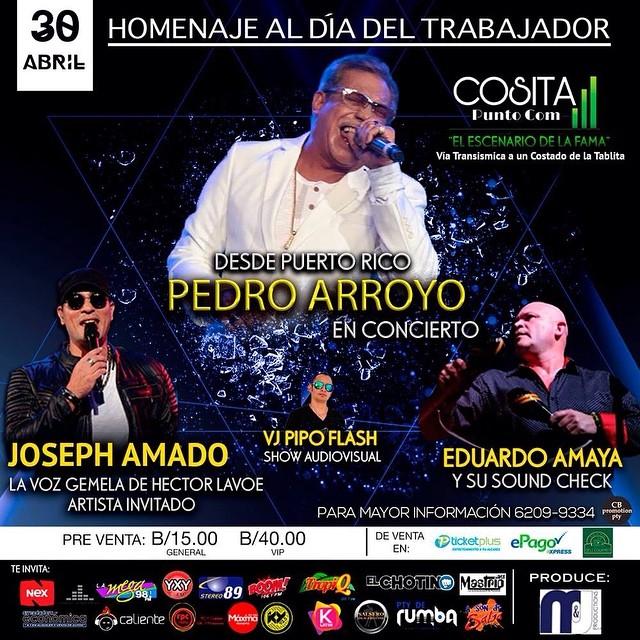 Photo of Pedro Arroyo en concierto en Panamá