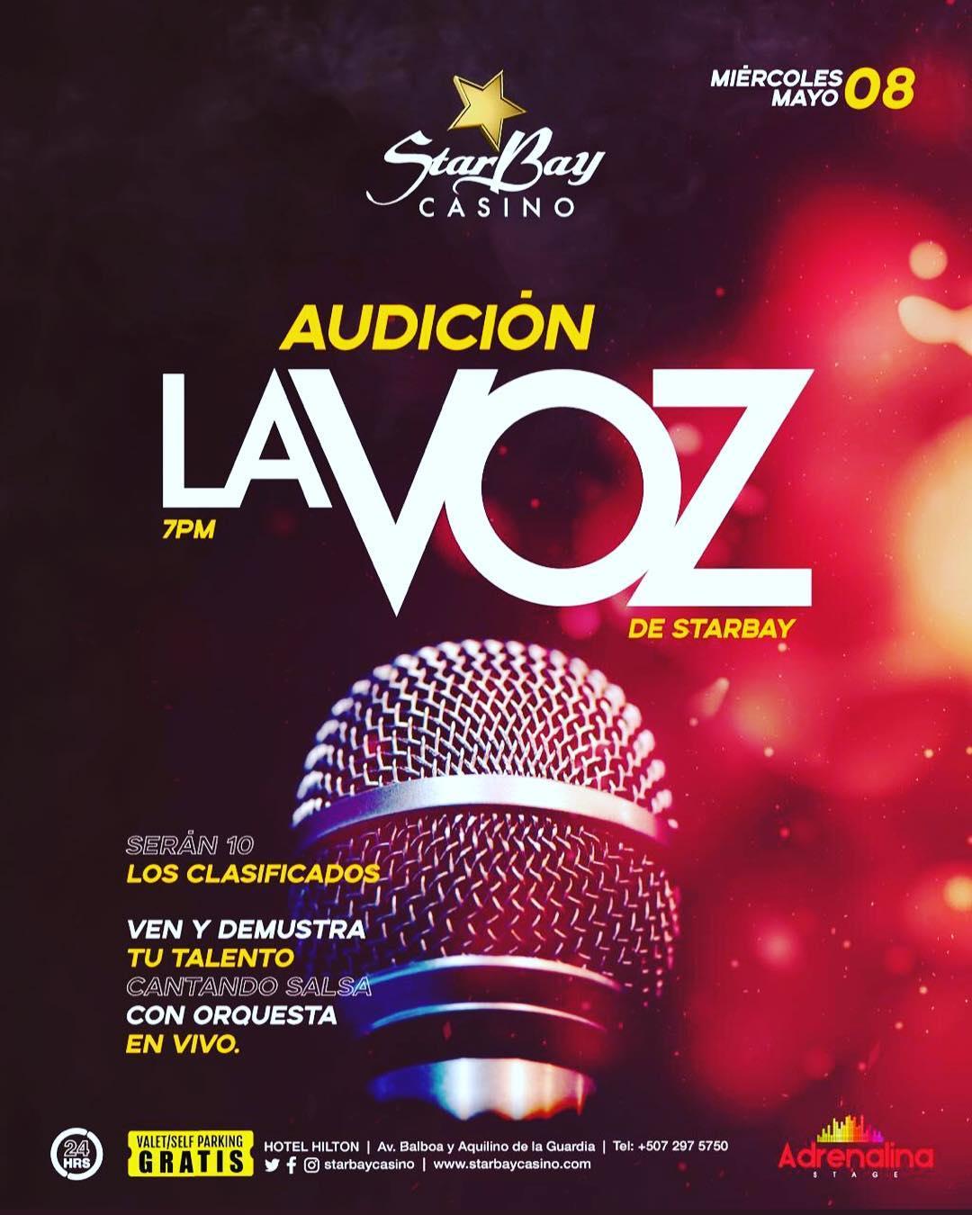 Photo of Audición para 'La Voz de Starbay' Casino