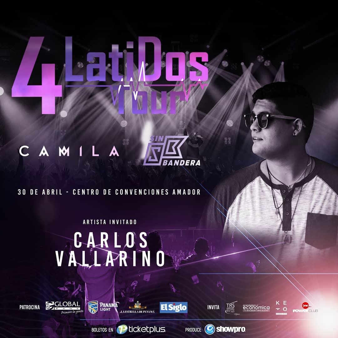 Photo of Carlos Vallarino es el artista invitado para el concierto de Camila y Sin Bandera