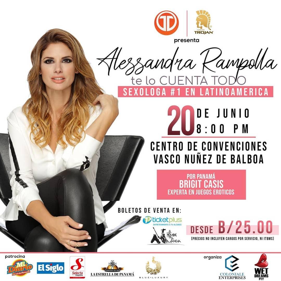 Photo of La sexóloga Alessandra Rampolla estará en Panamá en 'Te lo cuenta todo'
