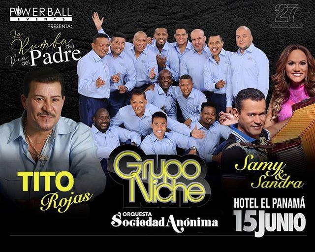 Photo of Boletos a la venta para el concierto de Tito Rojas, Grupo Niche en Panamá