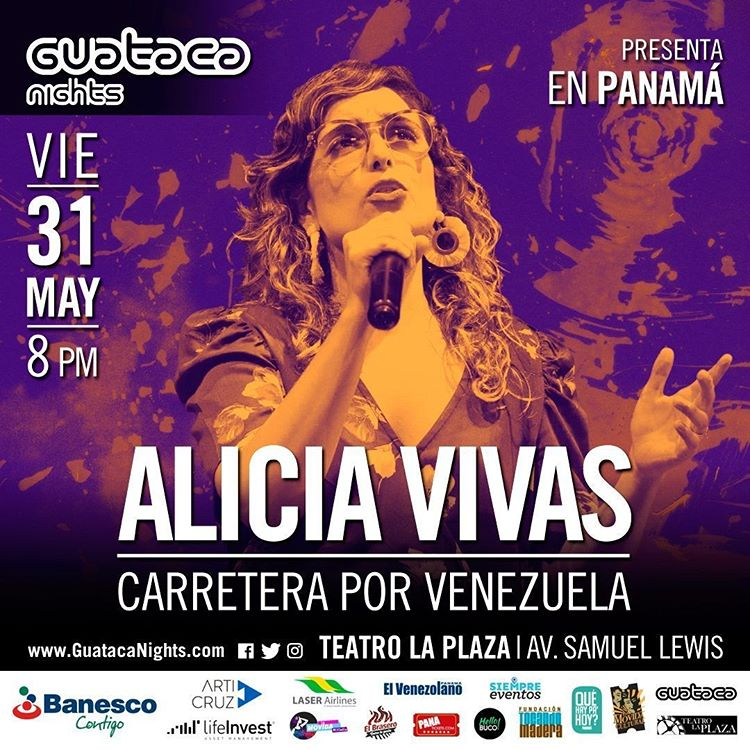 Photo of Alicia Vivas en concierto en Guataca Nights