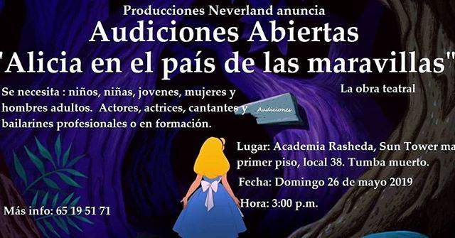 """Photo of Audiciones para la obra """"Alicia en el país de las maravillas"""""""