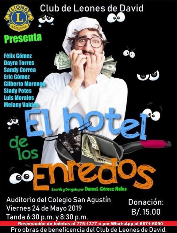 Photo of La obra 'El Hotel de los Enredos' llega a Chiriquí