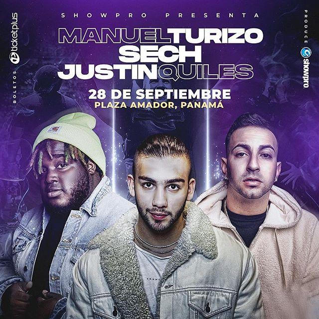 Photo of Manuel Turizo, Sech y Justin Quiles en concierto en Panamá