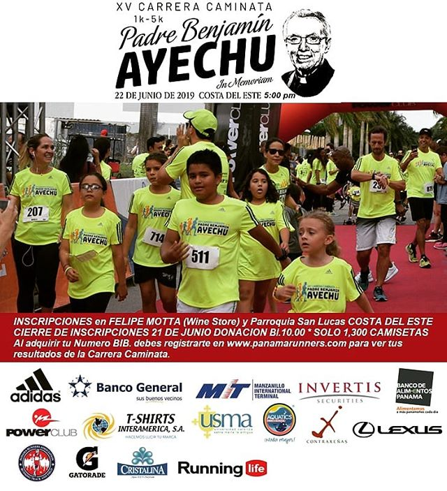 Photo of Panama Runner los invita a la 'XV Carrera Caminata 'Padre Benjamin Ayechu in Memoriam'