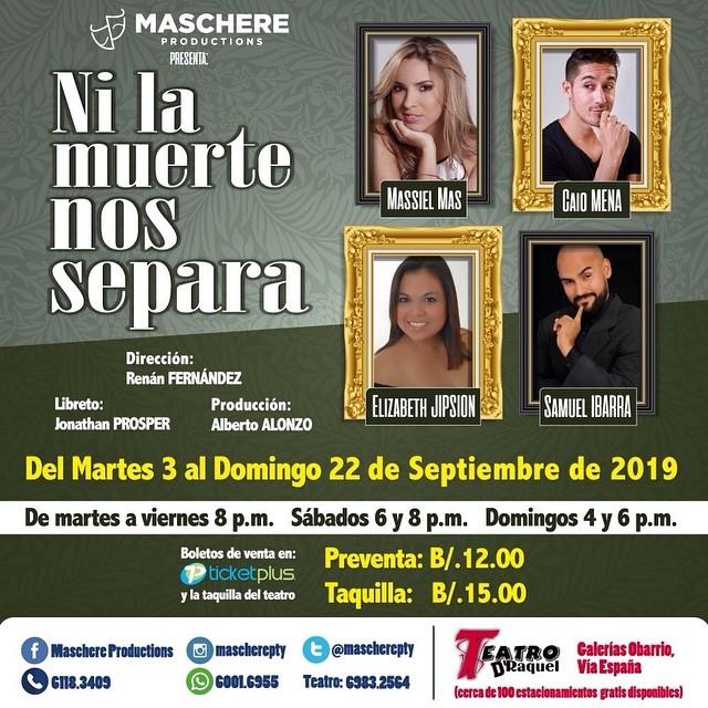 Photo of 'Ni La muerte los Separa' próximamente en Teatro D'Raquel