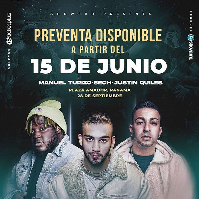 Photo of Pre venta para el concierto de Sech, Manuel Turizo y Justin Quiles en Panamá