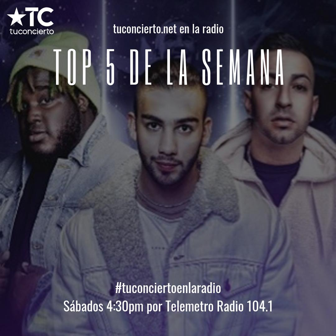 """Photo of Sech, MTZ y J Quiles en el """"Top 5"""" de la semana de Tuconcierto.net"""