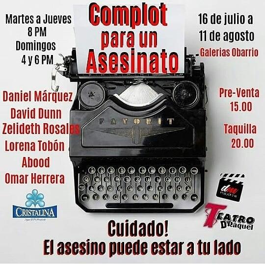 Photo of Estreno de la nueva obra 'Complot para un Asesinato'