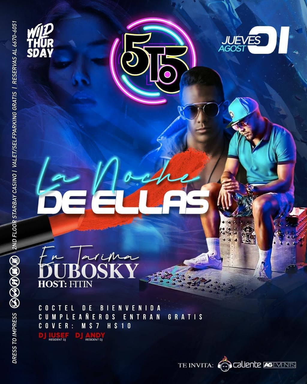 Photo of 5to5 presenta 'La Noche de Ellas' con Dubosky en tarima