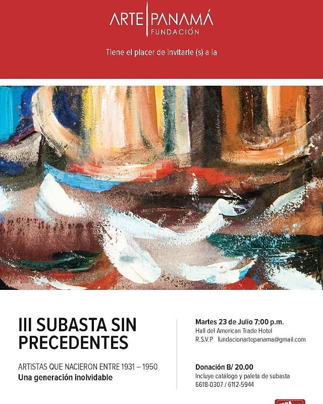 Photo of Fundación Arte Panamá presenta 'III Subasta sin precedente'