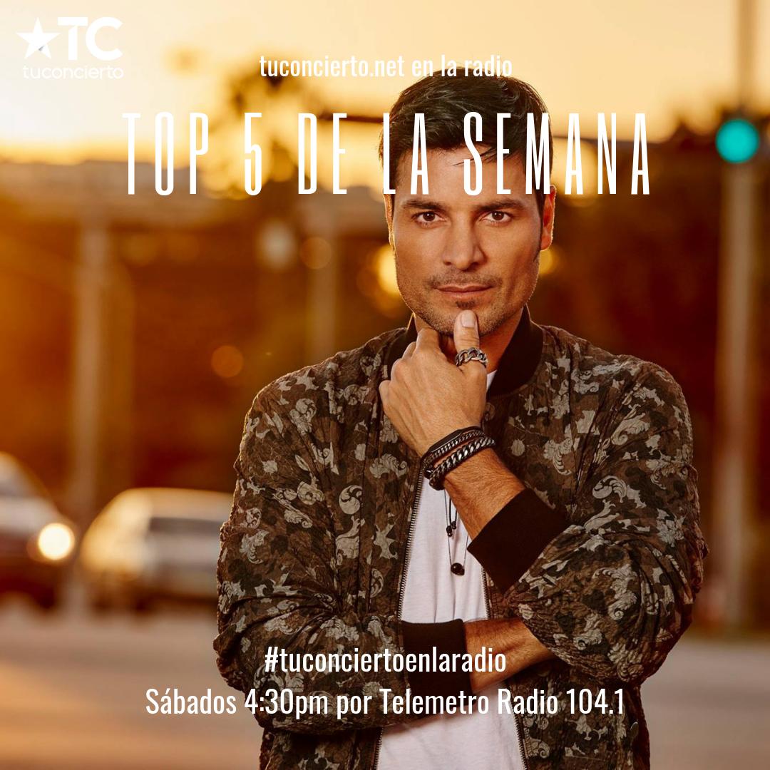 """Photo of Chayanne se adueño del """"Top 5"""" de la semana de Tuconcierto.net"""
