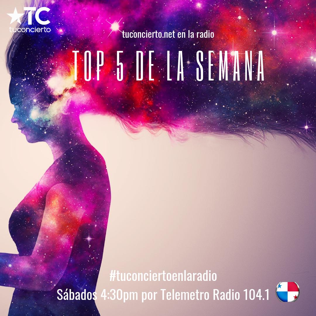 Photo of Talento nacional en el #Top5 de la semana de Tuconcierto en la radio