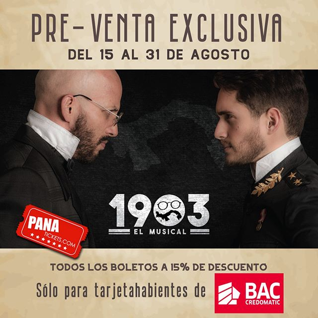 Photo of Boletos a la venta para disfrutar en Panamá de «1903: El Musical»