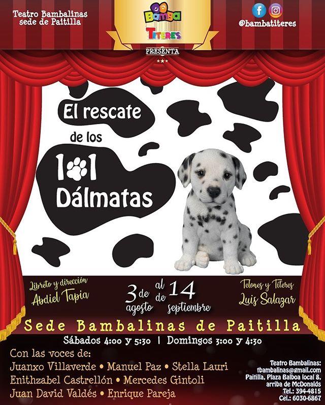 """Photo of """"El Rescate de los 101 Dálmatas"""" en Bamba Titeres"""