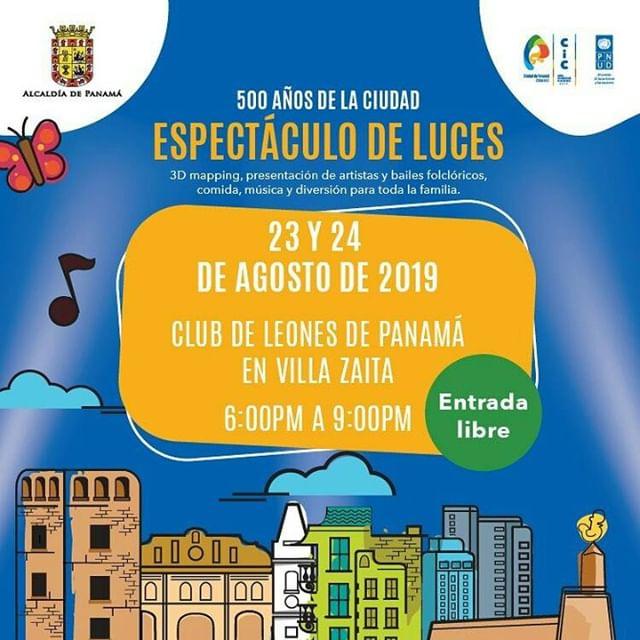 Photo of Se parte del 'Espectáculo de Luces' en celebración de los 500 años de la ciudad de Panamá