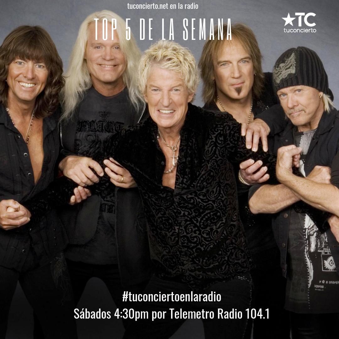 Photo of La banda REO Speedwagon en el #Top5 de la semana de Tuconcierto en la radio