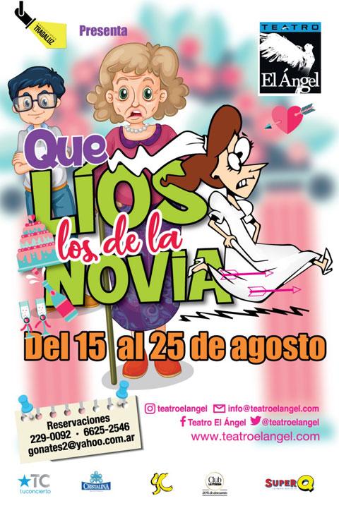 Photo of Última semana de la obra «Que Líos los de mi Novia» en en Teatro el Ángel