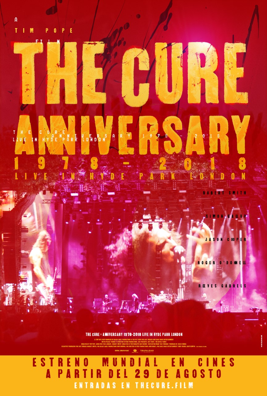Photo of Disfruta en cines de 'The Cure:Live in Hyde Park'