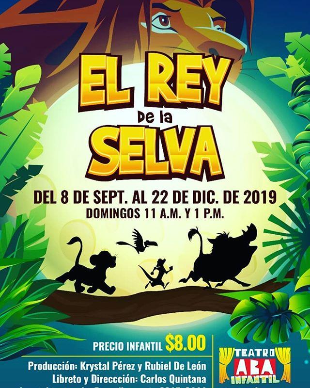 Photo of Obra infantil 'El Rey de la Selva' se estrena este domingo 08 de septiembre