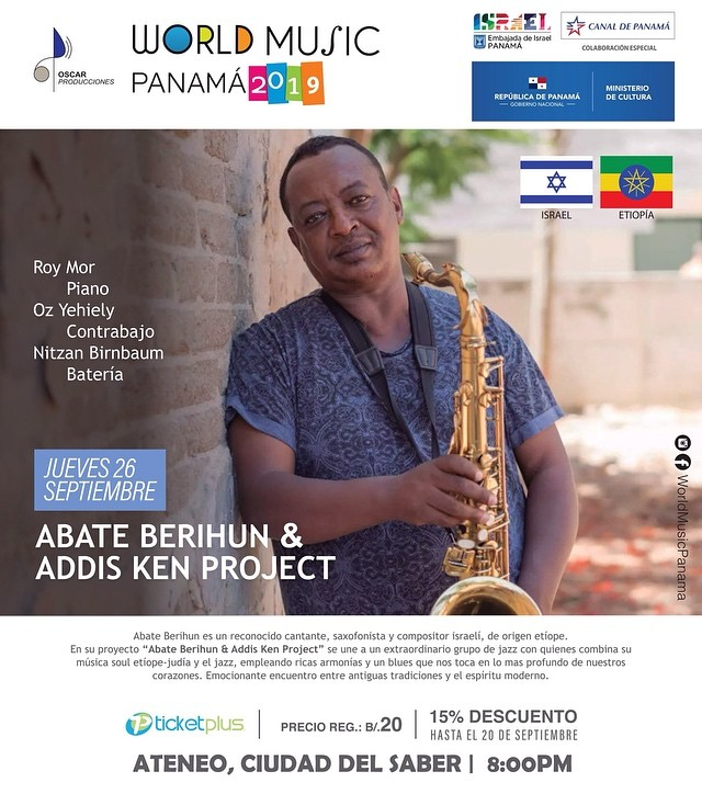 Photo of World Music Panamá 2019 presenta 'Abate Berihun y Addis Ken Project'