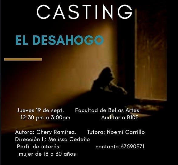 Photo of ¿Quieres ser actor? Se abre casting para la obra 'El Desahogo'