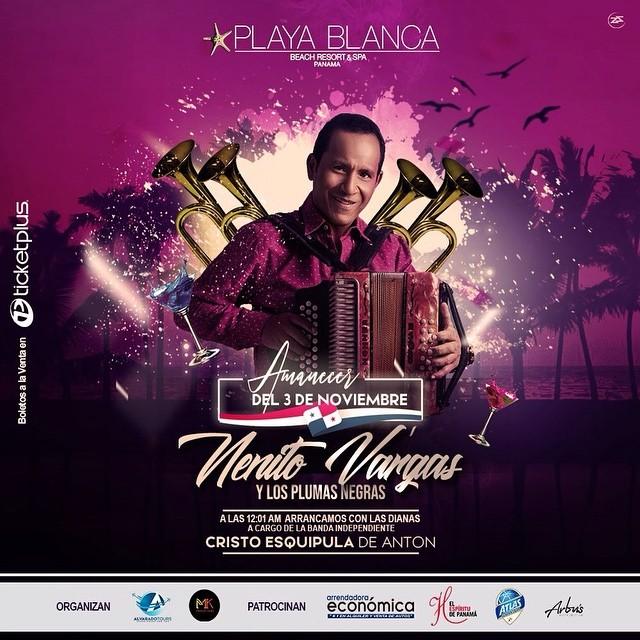 Photo of Nenito Vargas y Los Plumas Negras en concierto el próximo 3 de noviembre