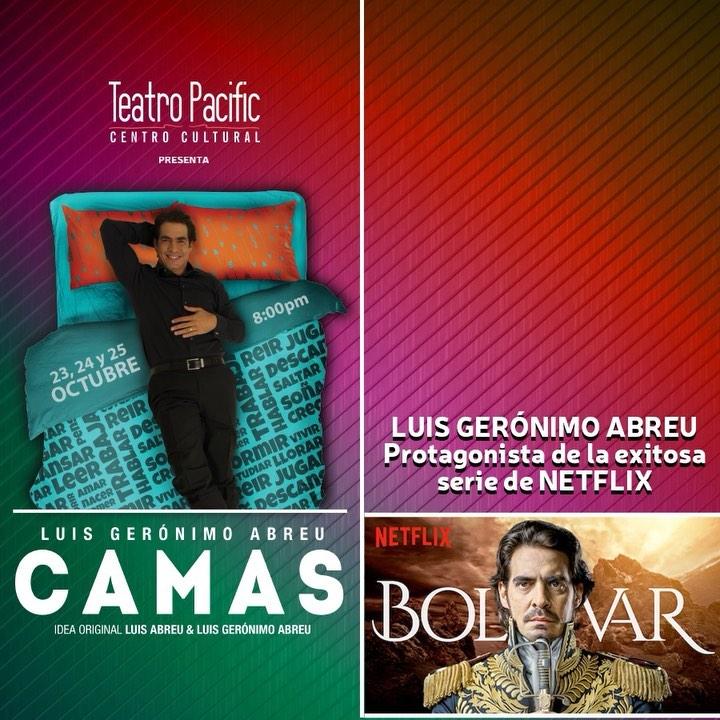 Photo of Pre venta para la obra 'Camas' con Luis Gerónimo Abreu protagonista de la exitosa serie de Netflix 'Bolívar'