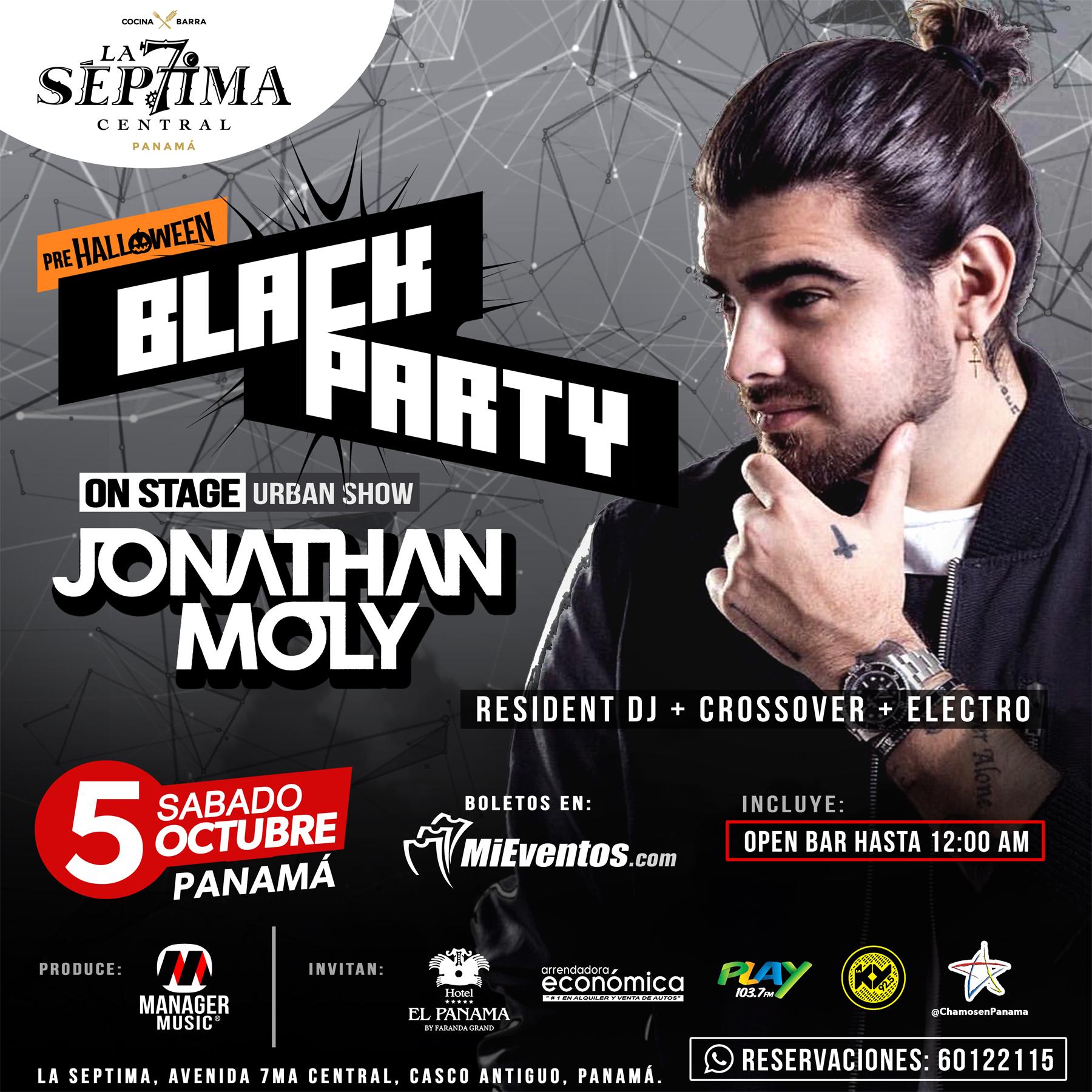 Photo of Jonathan Moly estará en Panamá el 05 de octubre