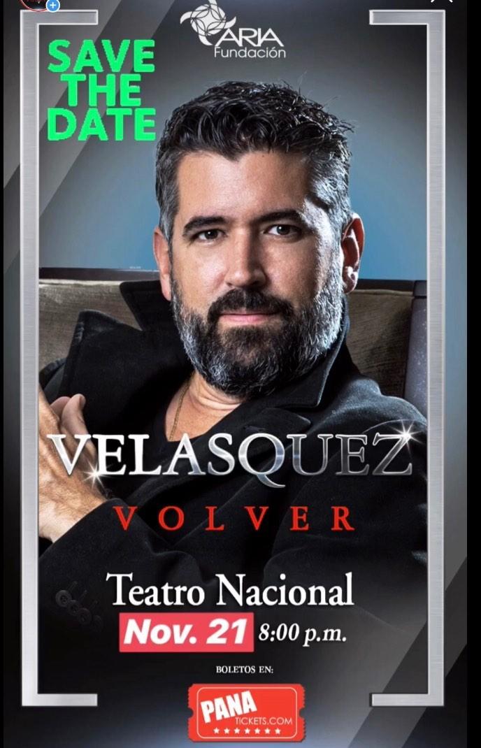 """Photo of Ricardo Velasquez anuncia nueva fecha para su concierto """"Volver"""" en el Teatro Nacional"""