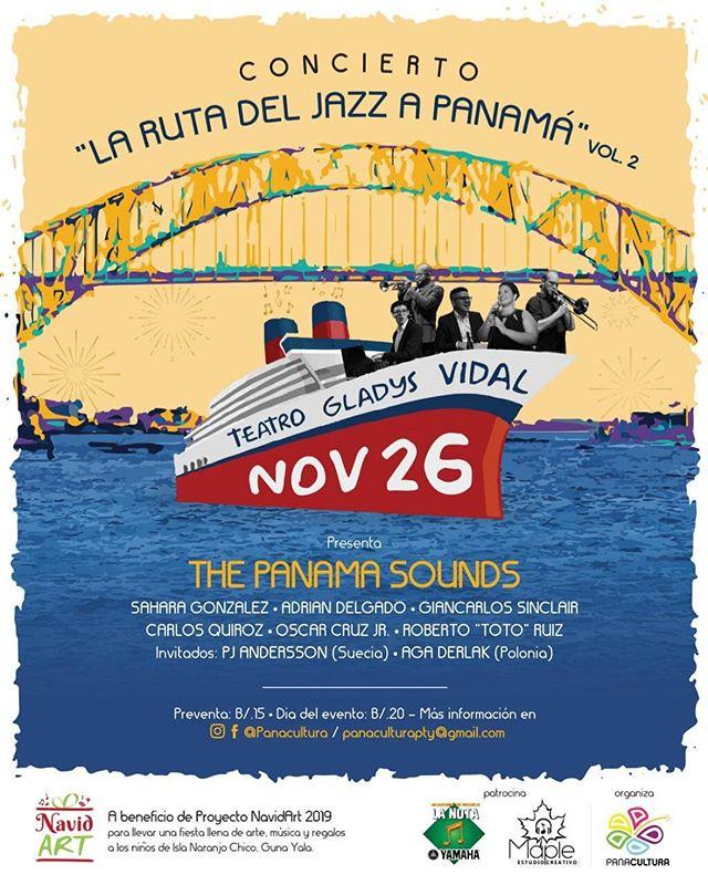 Photo of Concierto de «La Ruta del Jazz a Panamá» Vol. 2 el próximo 26 de noviembre